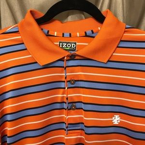 🏌️ ⛳️ Men's Izod Golf Striped Polo Large EUC